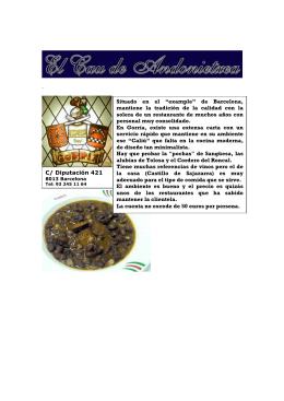 """Situado en el """"example"""" de Barcelona, mantiene la tradición"""