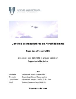 Controlo de Helicópteros de Aeromodelismo