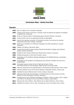 Curriculum Vitae - Carlos Cruz-Diez