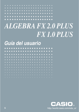 ALGEBRA FX 2.0 PLUS FX 1.0 PLUS - Support