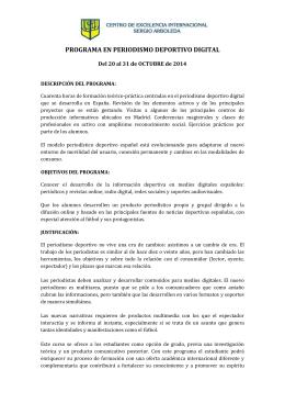 Programa 2014 - Centro de Excelencia