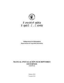 Manual de instalación - Banco de la República