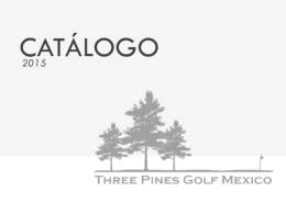 Gorras de Golf - Three Pines Golf Mexico