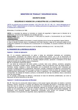 ministerio de trabajo y seguridad social decreto 89/995 seguridad e