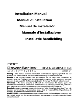 Installation Manual Manuel d`installation Manual de