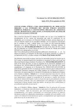 Servicio Nacional de Aduana del Ecuador
