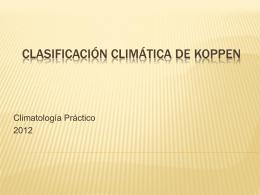 Clasificación Climática de Koppen