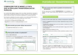 PESTAÑA DE TRANSFERENCIAS