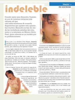 TRACK7 • Cuando opino que Alejandra Guzmán es una