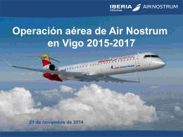 Operación aérea de Air Nostrum en Vigo 2015-2017