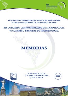 MEMORIAS - XIX Congreso Latinoamericano de Microbiología