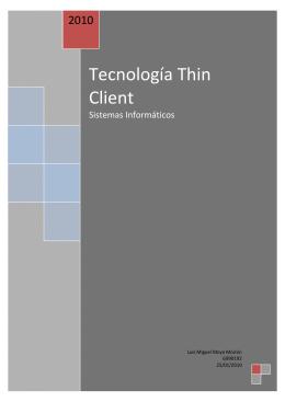 Tecnología Thin Client - Lan Core