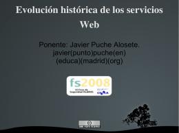 Evolución histórica de los servicios Web
