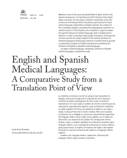 English and Spanish Medical Languages: