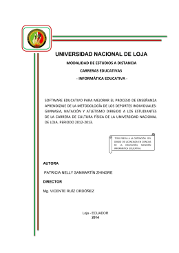 UNIVERSIDAD NACIONAL DE LOJA - Repositorio Universidad