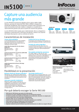 InFocus IN5100 Series Datasheet (Spanish)