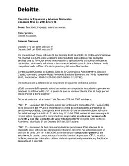 Dirección de Impuestos y Aduanas Nacionales Concepto 1958 del