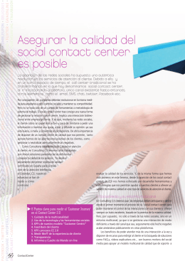 Asegurar la calidad del social contact center es posible