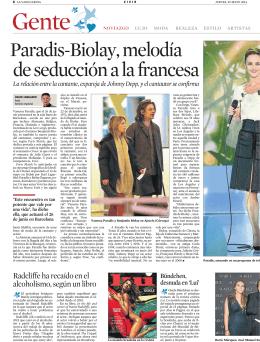 Paradis-Biolay, melodía de seducción a la francesa