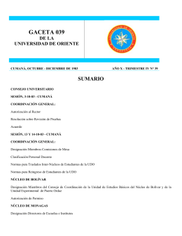 GACETA 0 - Universidad de Oriente