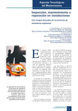 Mantenimiento Atex-IGM - LOM - Universidad Politécnica de Madrid