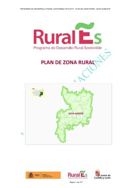 Plan de Zona LEON SUDESTE - Junta de Castilla y León