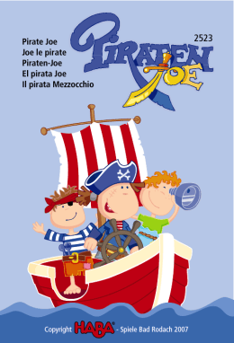 Pirate Joe Joe le pirate Piraten-Joe El pirata Joe Il pirata Mezzocchio
