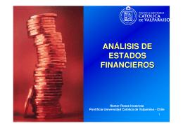 Análisis Financiero - Pontificia Universidad Católica de Valparaíso