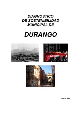 diagnostico de sostenibilidad municipal de durango
