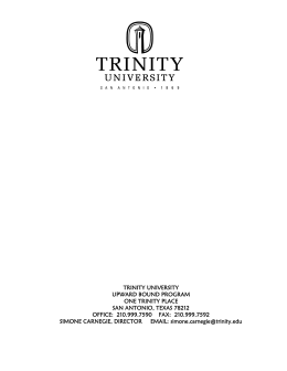 trinity university upward bound program one trinity place san antonio