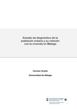 Estudio de diagnóstico de la población urbana y su relación con la