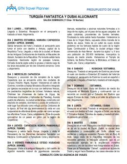 TURQUÍA FANTASTICA Y DUBAI ALUCINANTE