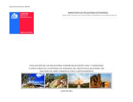 Evaluación de las Relaciones Comerciales entre Chile y