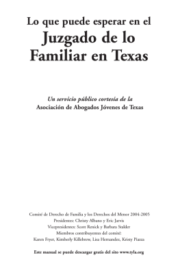 Juzgado de lo Familiar en Texas
