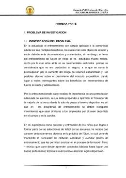 1 PRIMERA PARTE 1. PROBLEMA DE INVESTIGACION 1.1