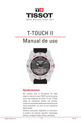 T-TOUCH II Manual de uso