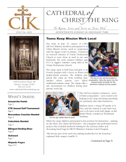 Teens Keep Mission Work Local - Cathedral of Christ the King