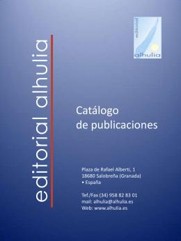 Catálogo - Editorial Alhulia