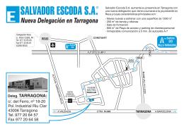 Deleg. TARRAGONA - Salvador Escoda SA