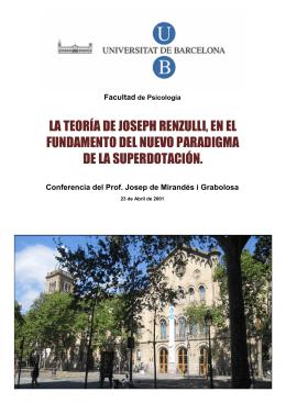 LA TEORÍA DE JOSEPH RENZULLI, EN EL FUNDAMENTO DEL