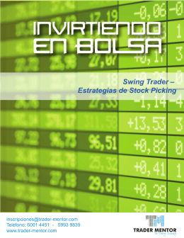 Swing Trader – Estrategias de Stock Picking