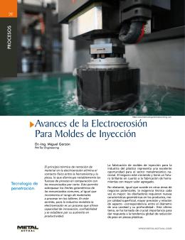 Avances de la Electroerosión Para Moldes de Inyección