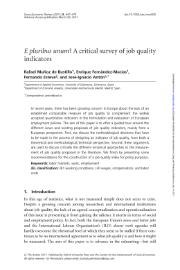 E pluribus unum? A critical survey of job quality indicators
