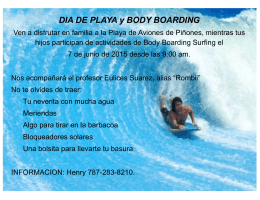 DIA DE PLAYA y BODY BOARDING
