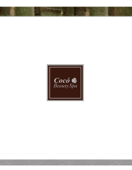Menu Spa PDF - Coco Beauty Spa
