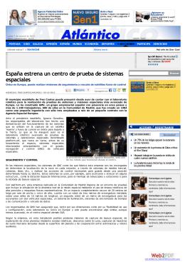 España estrena un centro de prueba de sistemas espaciales