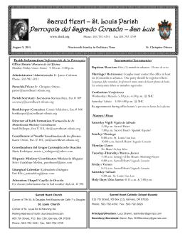 Parroquia del Sagrado Corazón – San Luis - Sacred Heart