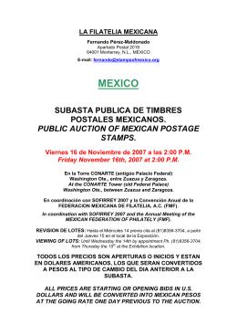 20 años de la filatelia mexicana