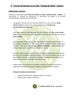 """1 Torneo de Hockey en la Calle """"Ciudad de Gijón"""" Lloberu"""
