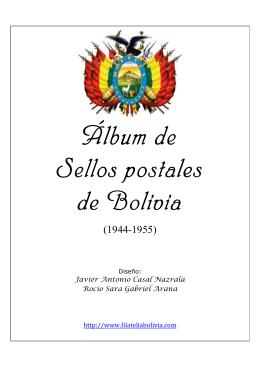 Álbum de Sellos postales Sellos postales de Bolivia